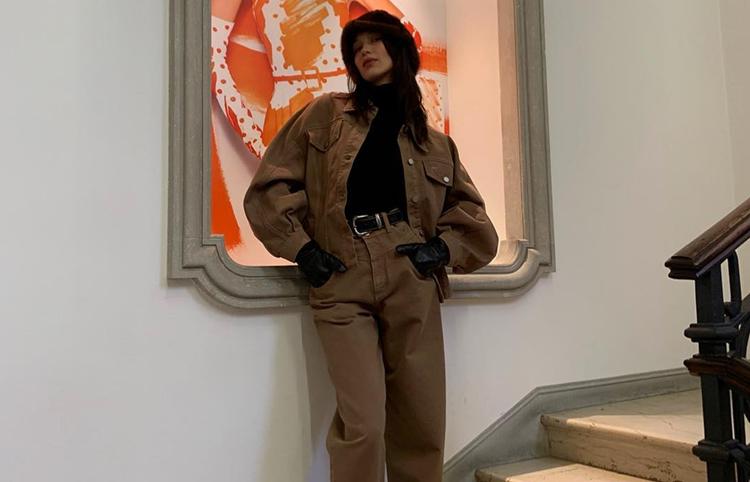Instagram Bella Hadid Spotted In Alberta Ferretti Pre Fall 2019